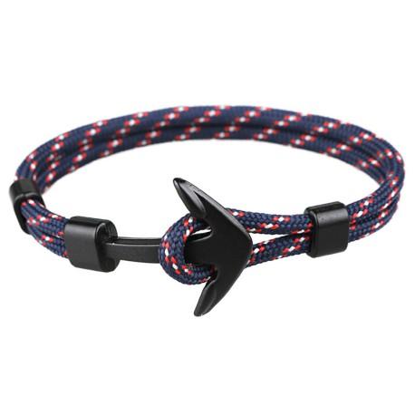 Bracelet  Ancre Marine Bleu