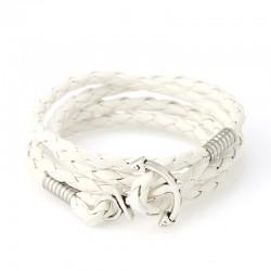 Bracelet Ancre de Bateau Blanc