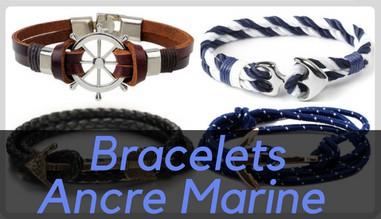 Bracelets Ancre Marine